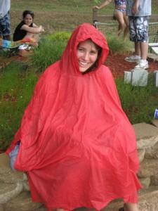 Marcie in the rain